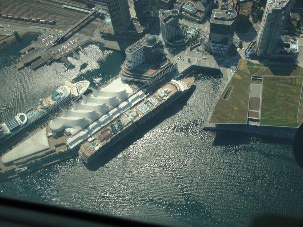 صورة جوية لميناء فانكوفر السياحي