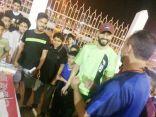 نجم نادي النصر والمنتخب السعودي السهلاوي في ضيافة نادي الحي بمدرسة الامام عاصم