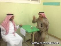 الدحيلان : يفتتح المعرض التوعوي بمستشفى الجفر العام