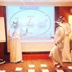 رئيس الهلال الأحمر السعودي المكلف يلتقي منسوبي الهيئة