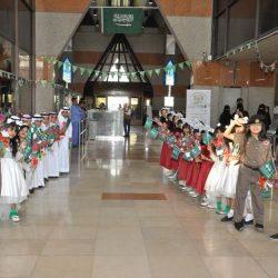 مدرسة جعفر بن أبي طالب تشارك مستشفى الجفر احتفالها باليوم الوطني