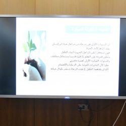 """"""" المغربي """" يفتتح معرض الشراكات المجتمعية بمدرسة عمار بن ياسر الابتدائية بالأحساء"""