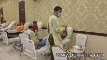 """مبارك الفهيد """" رئيس التنمية بالجفر يسلم شباب الخليج كأس دورة المنيزلة"""
