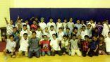 40 طالباً من مدرسة الجبيل الابتدائية يزورون نادي الفتح بالأحساء
