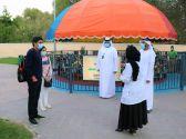 شرطة أبوظبي توعي زوار حديقة ألعاب هيلي بالإجراءات الاحترازية لكورونا